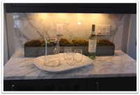 Carrara Bar top with full height splash